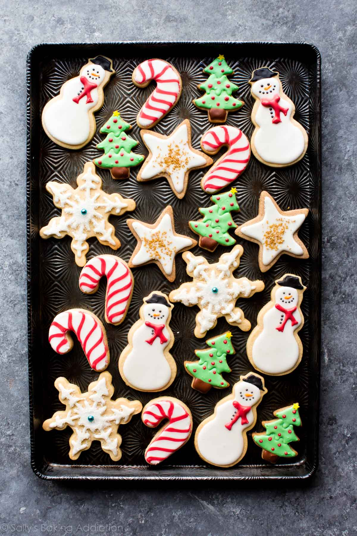 Christmas Themed Cookies  How to Decorate Sugar Cookies