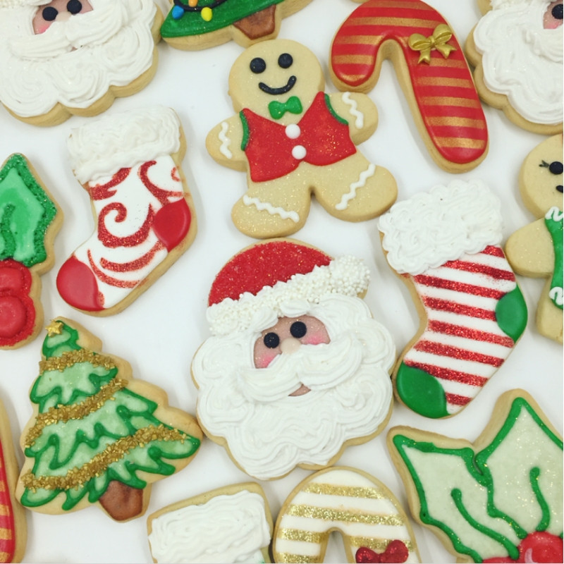 Christmas Themed Cookies  Decorated Christmas Cookie Assortments Carson s Cookie Fix