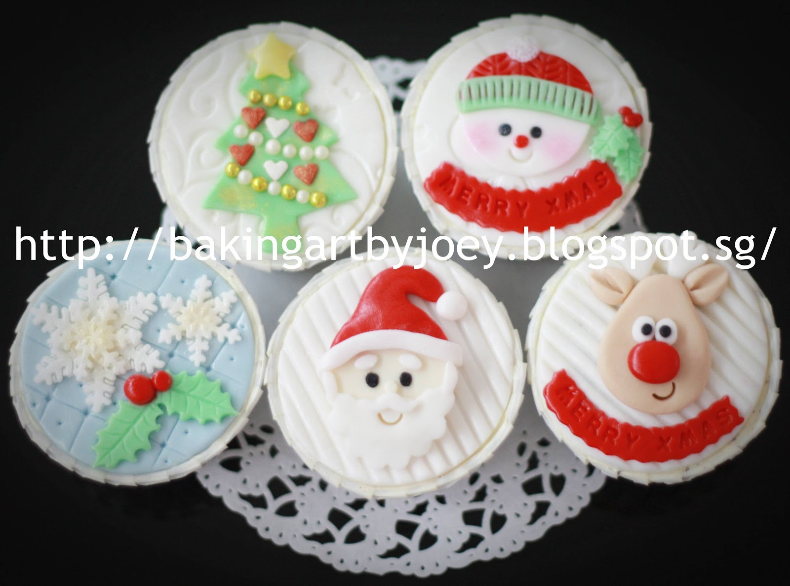Christmas Themed Cupcakes  Baking Art by Joey Christmas Themed cupcakes