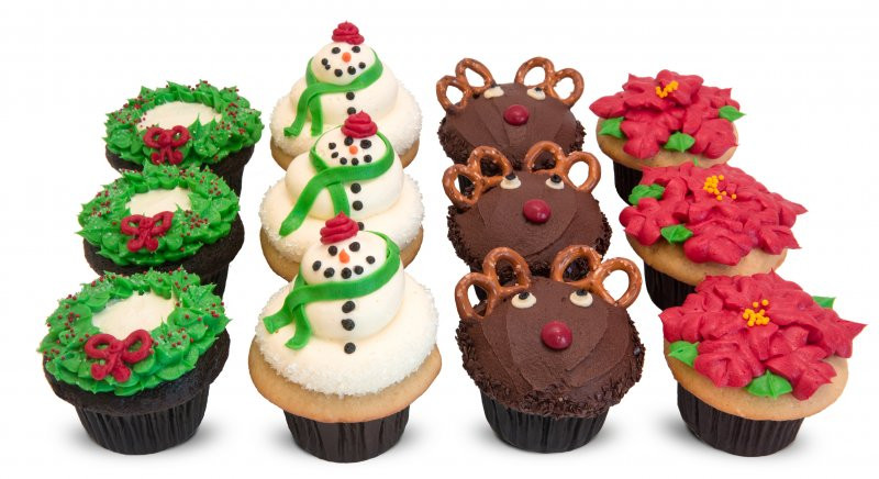 Christmas Themed Cupcakes  Christmas Dozen