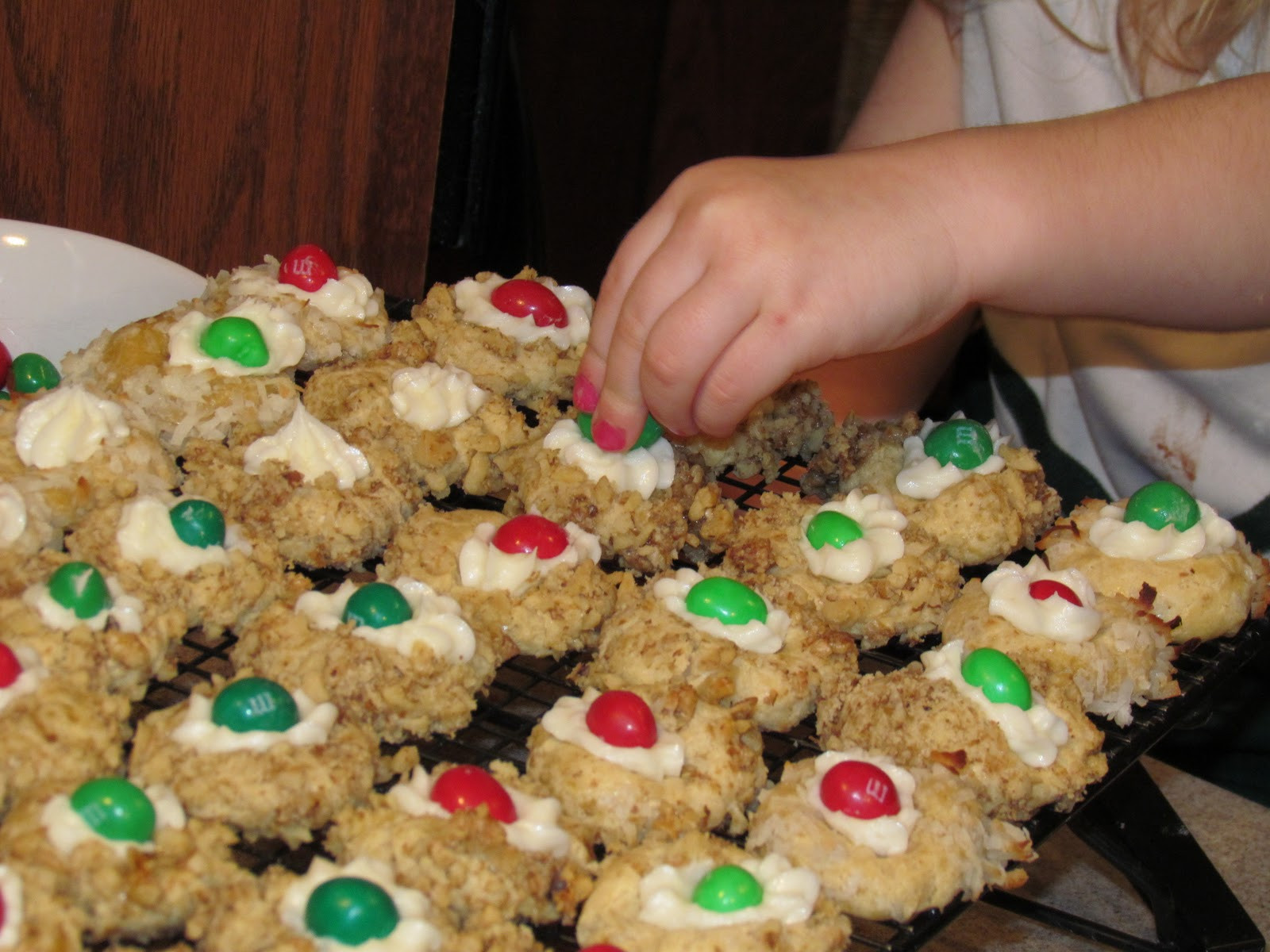Christmas Thumbprint Cookies  There s no place like Home Christmas Thumbprint Cookies