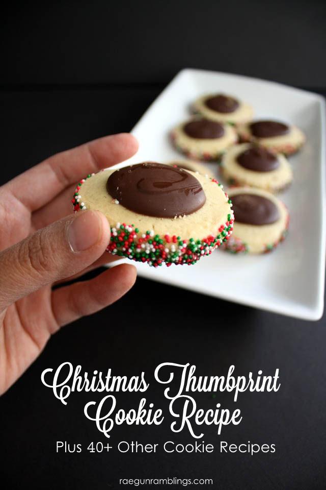 Christmas Thumbprint Cookies  40 Cookie Exchange Recipes and Christmas Thumbprint