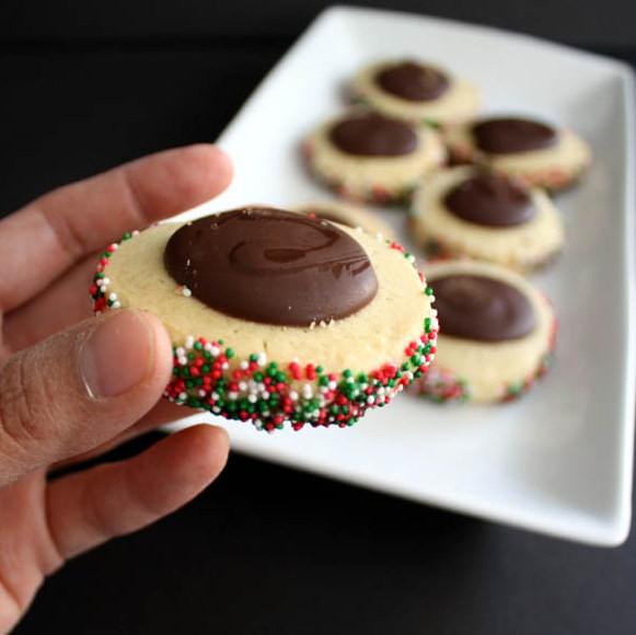 Christmas Thumbprint Cookies Recipe  40 Cookie Exchange Recipes and Christmas Thumbprint