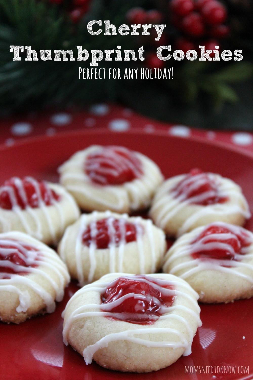 Christmas Thumbprint Cookies Recipe  Cherry Thumbprint Cookie Recipe