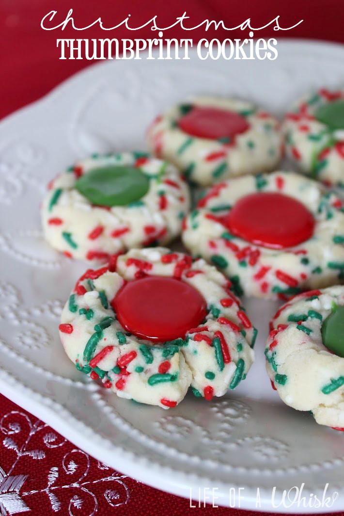 Christmas Thumbprint Cookies Recipe  Christmas Thumbprint Cookies lifeofawhisk