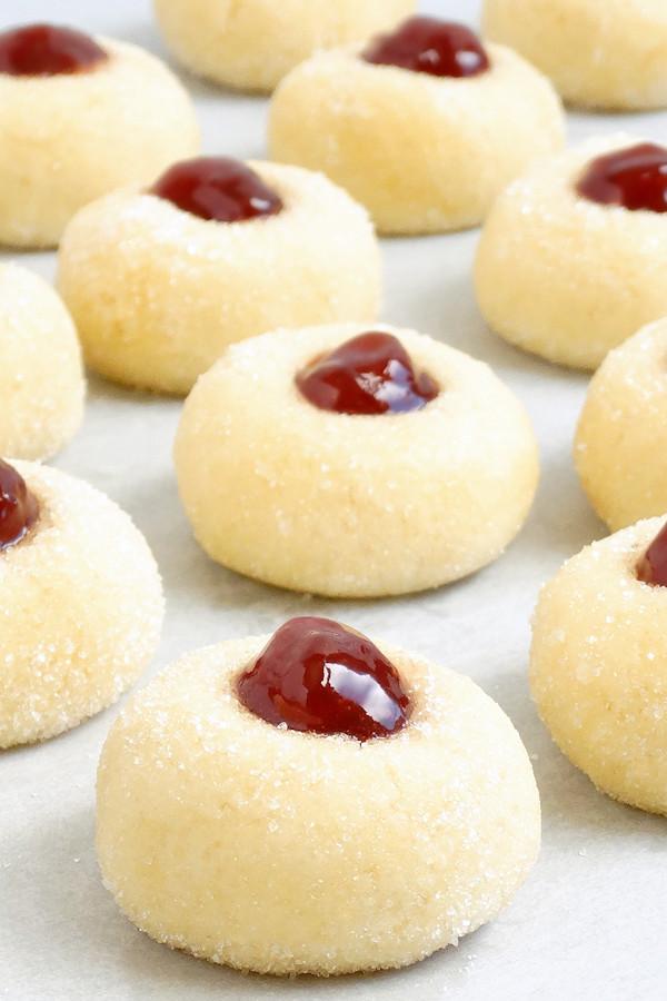 Christmas Thumbprint Cookies Recipe  Grandma s Perfect Jam Thumbprint Cookies Wicked Good Kitchen