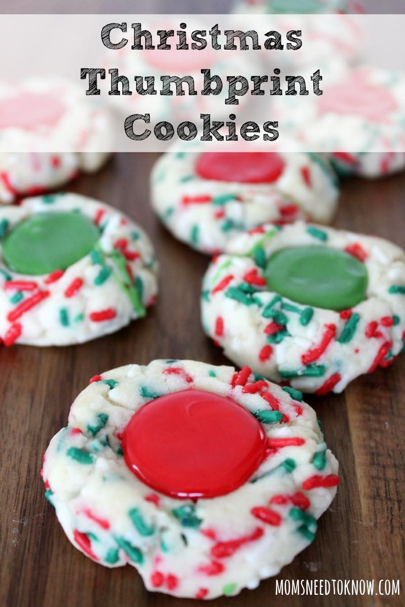 Christmas Thumbprint Cookies  Easy Christmas Thumbprint Cookies