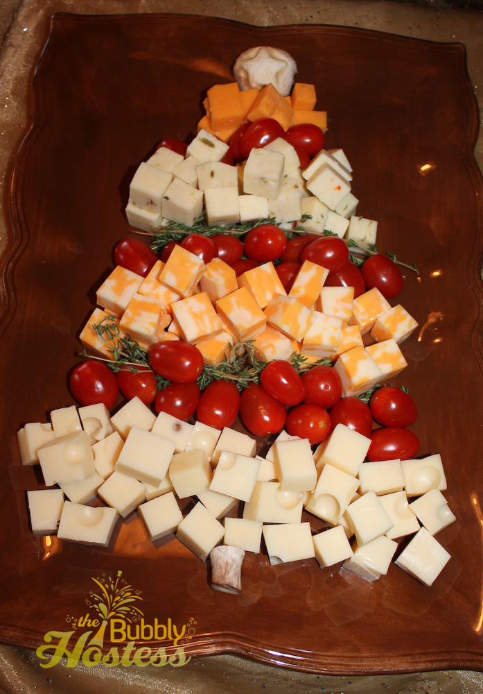 Christmas Tree Appetizers Recipes  The Bubbly Hostess Christmas Tree Cheese and Tomato Appetizer
