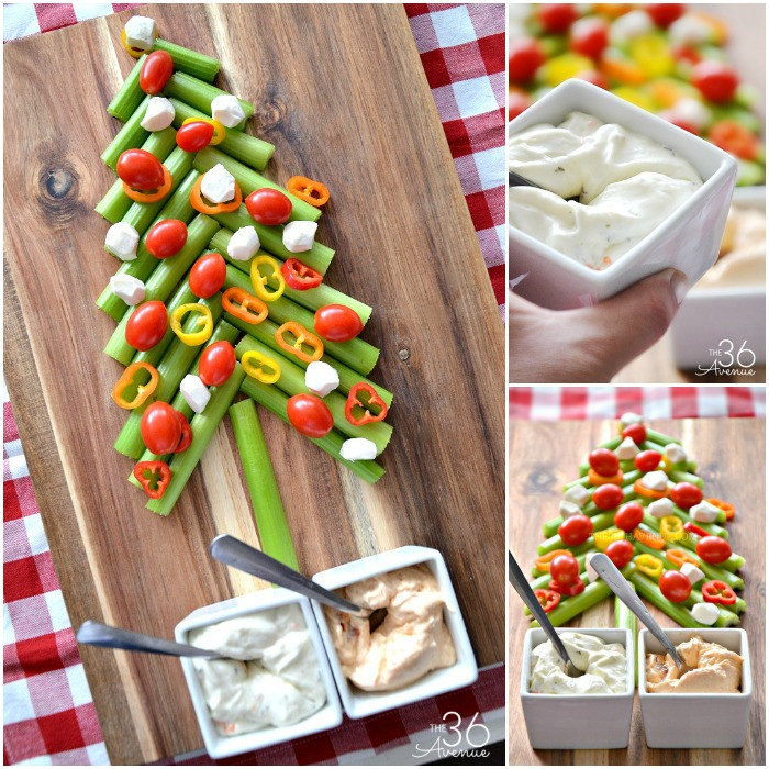 Christmas Tree Appetizers Recipes  Edible Christmas Tree and Veggie Dip The 36th AVENUE