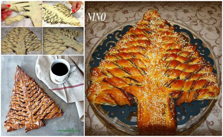 Christmas Tree Bread  Wonderful DIY Beautiful Braided Nutella Bread