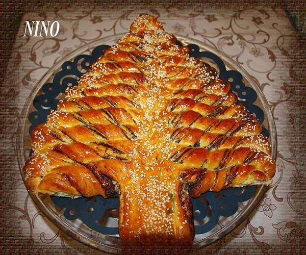 Christmas Tree Bread Recipe  Braided Nutella Christmas Tree Bread Recipe