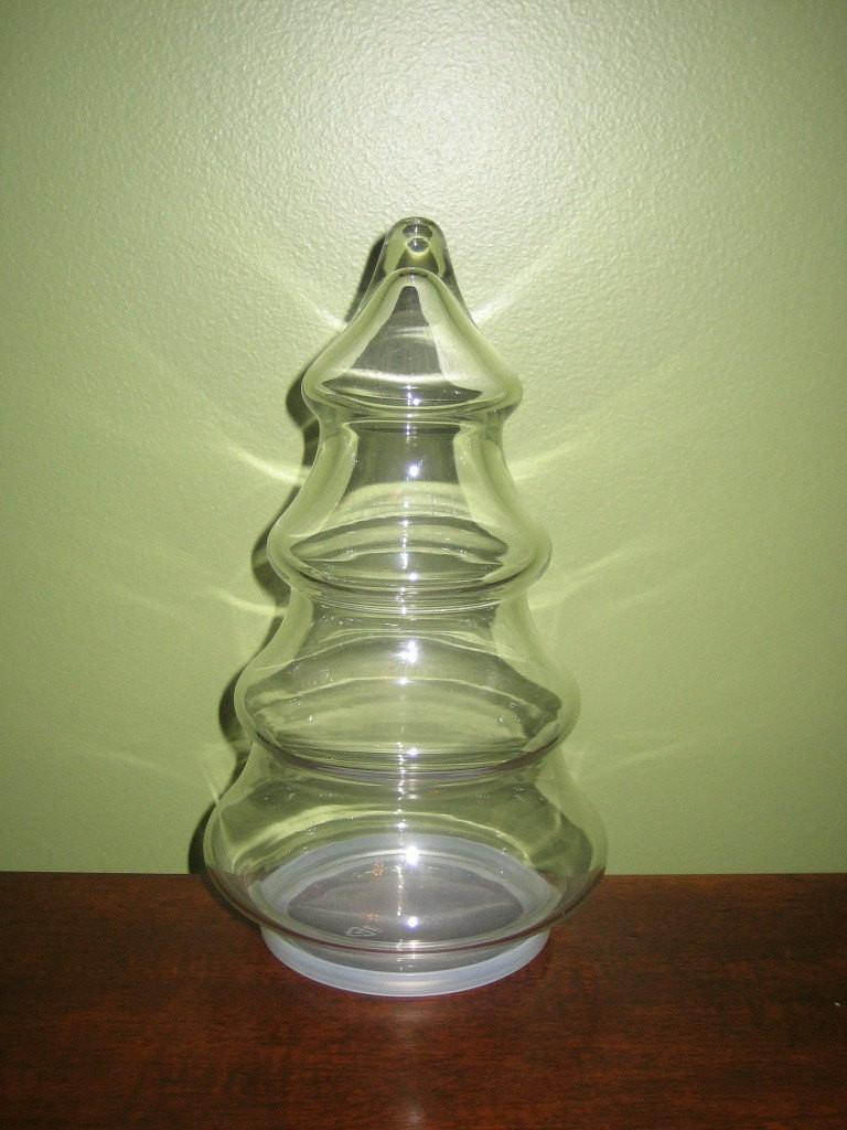 Christmas Tree Candy Jars  Vintage Christmas Tree Candy Jar by vintagewares on Etsy