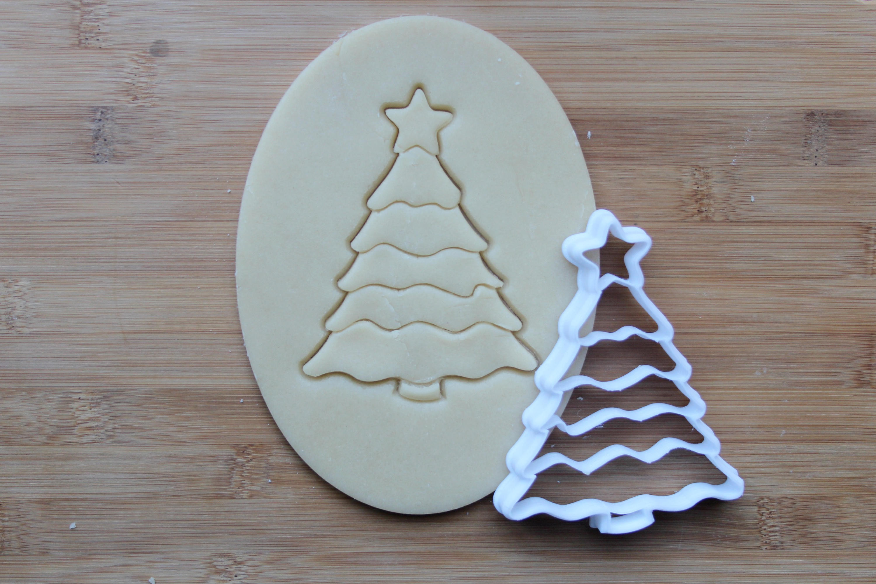 Christmas Tree Cookies Cutter  Christmas Tree 3D Printed Cookie Cutter Winter Holiday