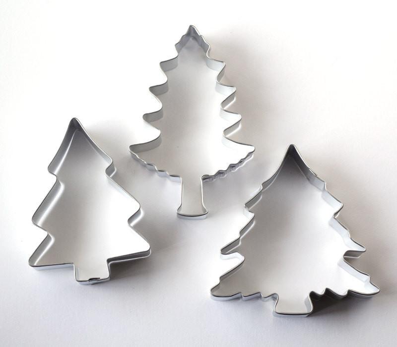 Christmas Tree Cookies Cutter  Pine Tree Cookie Cutters Set of 3 Christmas Cookie Cutters