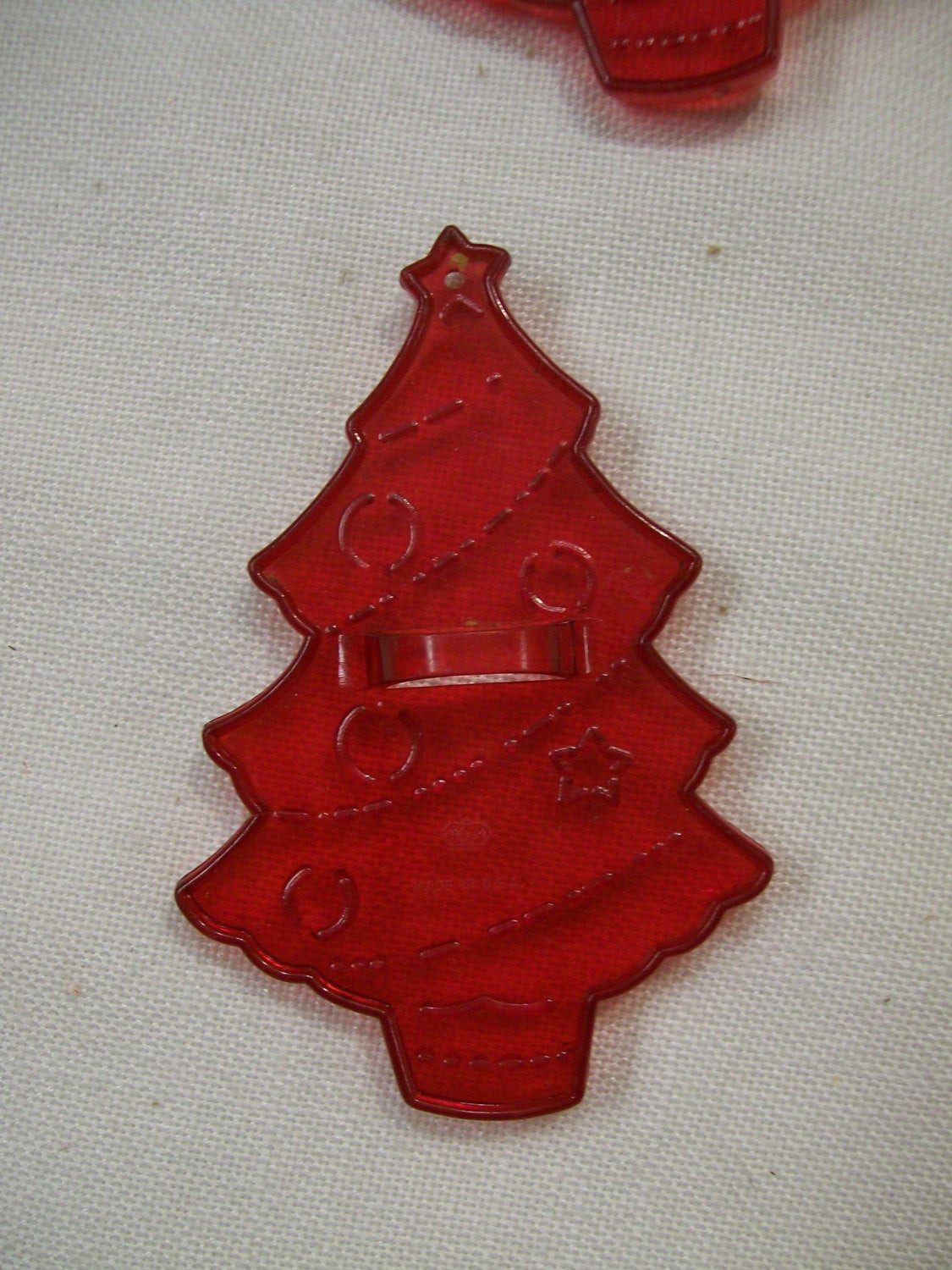 Christmas Tree Cookies Cutter  Christmas TREE Cookie Cutter Red Plastic by HRM Circa