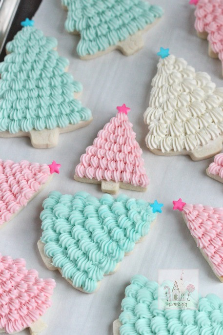 Christmas Tree Cookies Recipe  40 Christmas Cookies The Crafted Sparrow