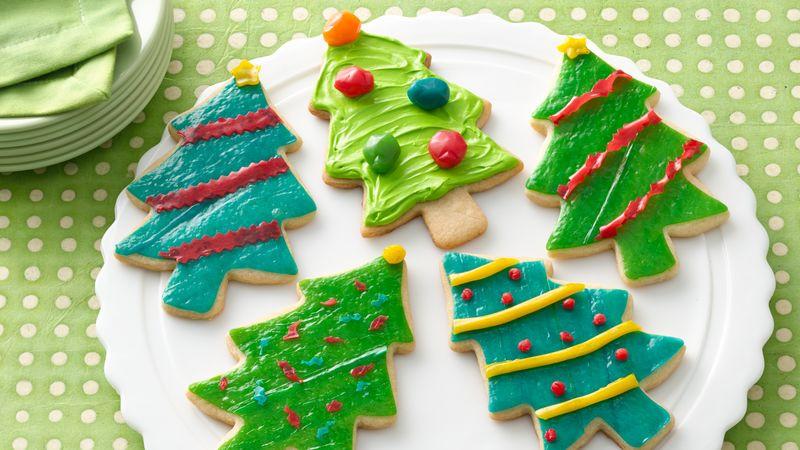 Christmas Tree Cookies Recipe  Fruity Fun Christmas Tree Cookies Recipe BettyCrocker