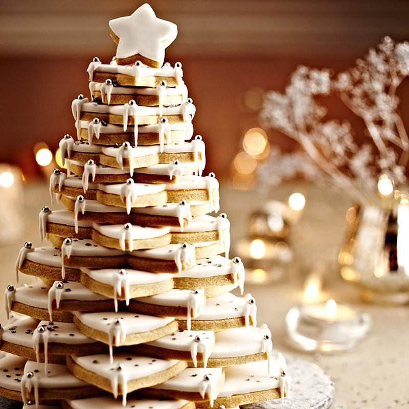 Christmas Tree Cookies Recipe  Almond Christmas Cookie Tree Recipes