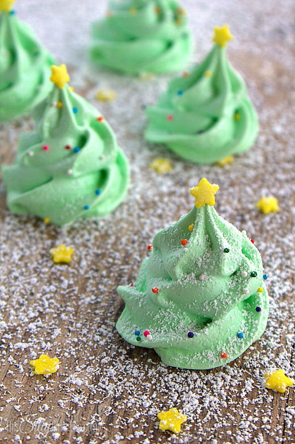 Christmas Tree Cookies Recipe  Day 9 Christmas Tree Meringues B Lovely Events