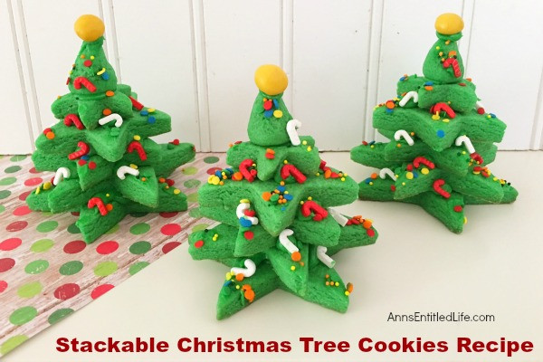 Christmas Tree Cookies Recipe  Stackable Christmas Tree Cookies Recipe