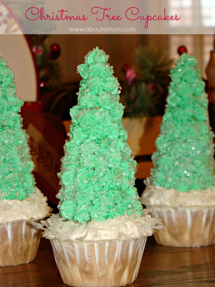 Christmas Tree Cupcakes  Christmas Tree Cupcakes About A Mom