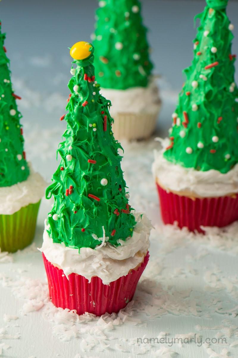 Christmas Tree Cupcakes  Vegan Christmas Tree Cupcakes Namely Marly