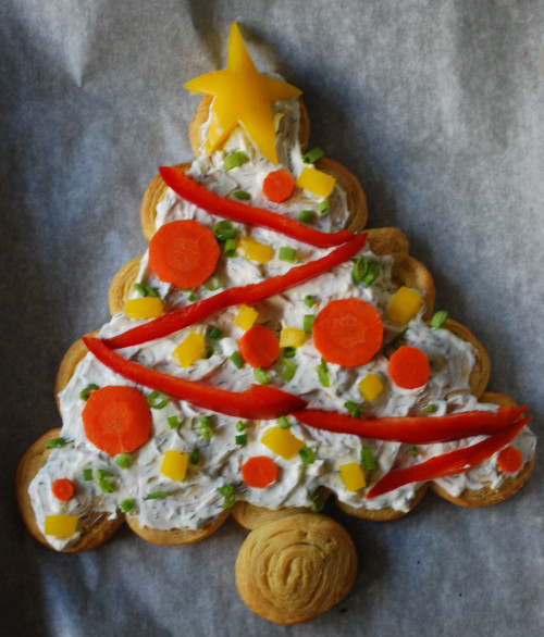 Christmas Tree Shaped Appetizers  Healthy & Festive Holiday Party Appetizer
