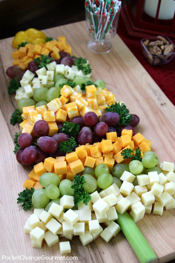 Christmas Tree Shaped Appetizers  Holiday Appetizers Fruit and Cheese Tree Recipe