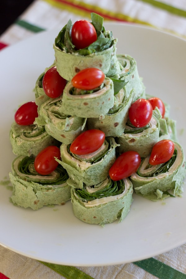 Christmas Tree Shaped Appetizers  Christmas Tree Pita Pinwheel Appetizer Spinach Tortillas