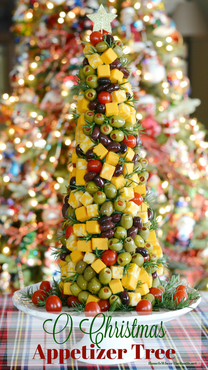 Christmas Tree Shaped Appetizers  Fun To Decorate and To Eat 'O Christmas' Appetizer Tree