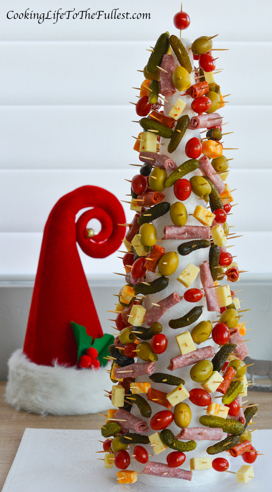 Christmas Tree Shaped Appetizers  Appetizer Christmas Tree Cooking Life to the Fullest