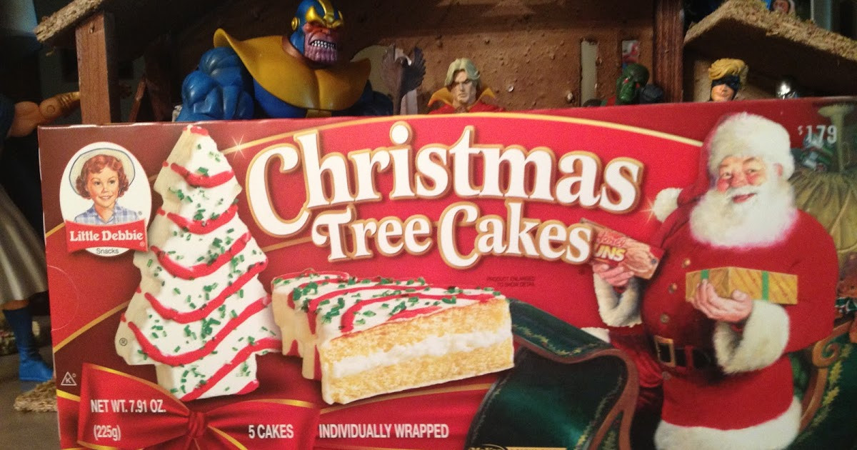 Christmas Tree Snack Cakes  The Nerduary Christmas Treat Review Little Debbie