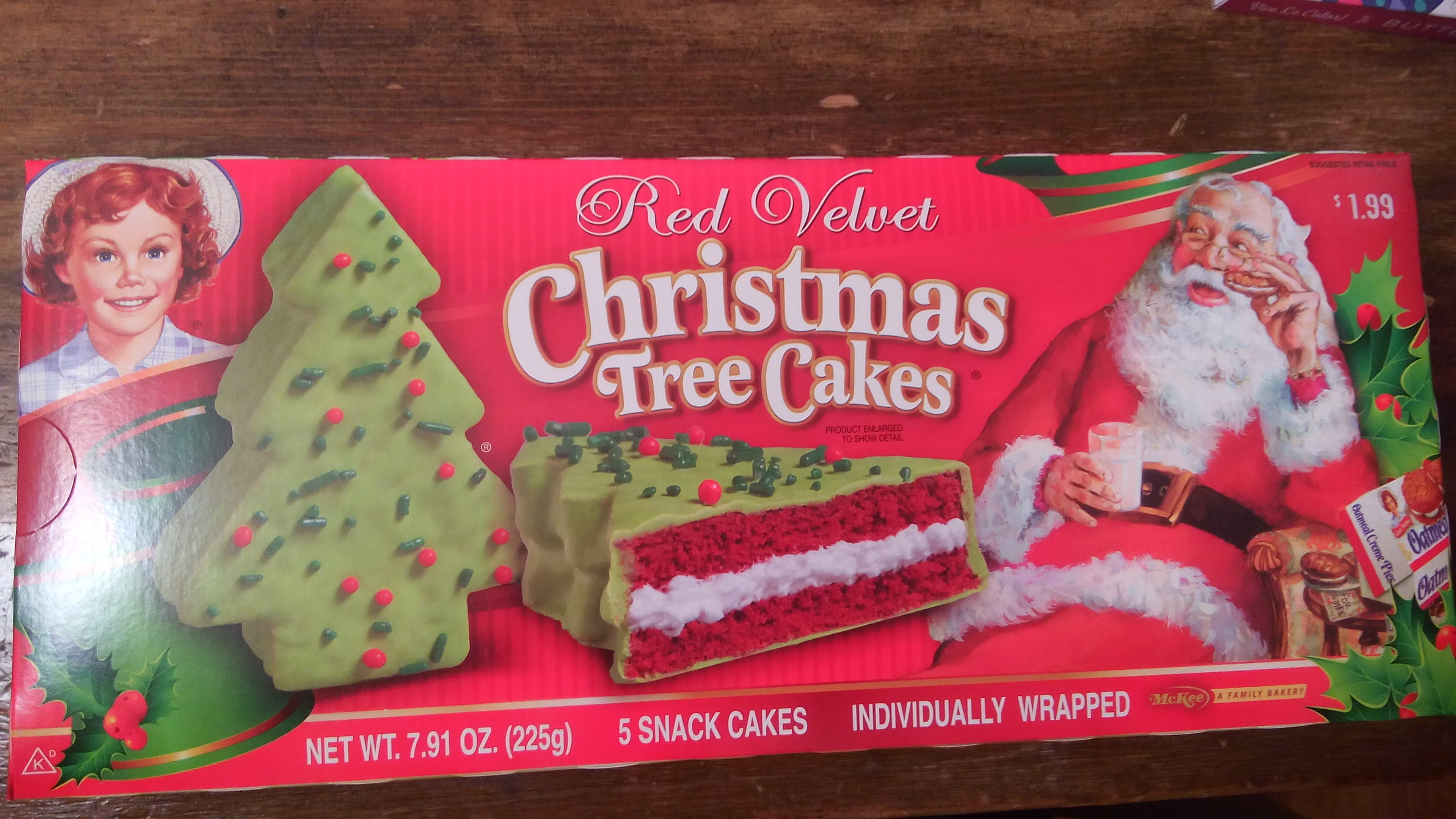 Christmas Tree Snack Cakes  Little Debbie Red Velvet Christmas Tree Snack Cakes