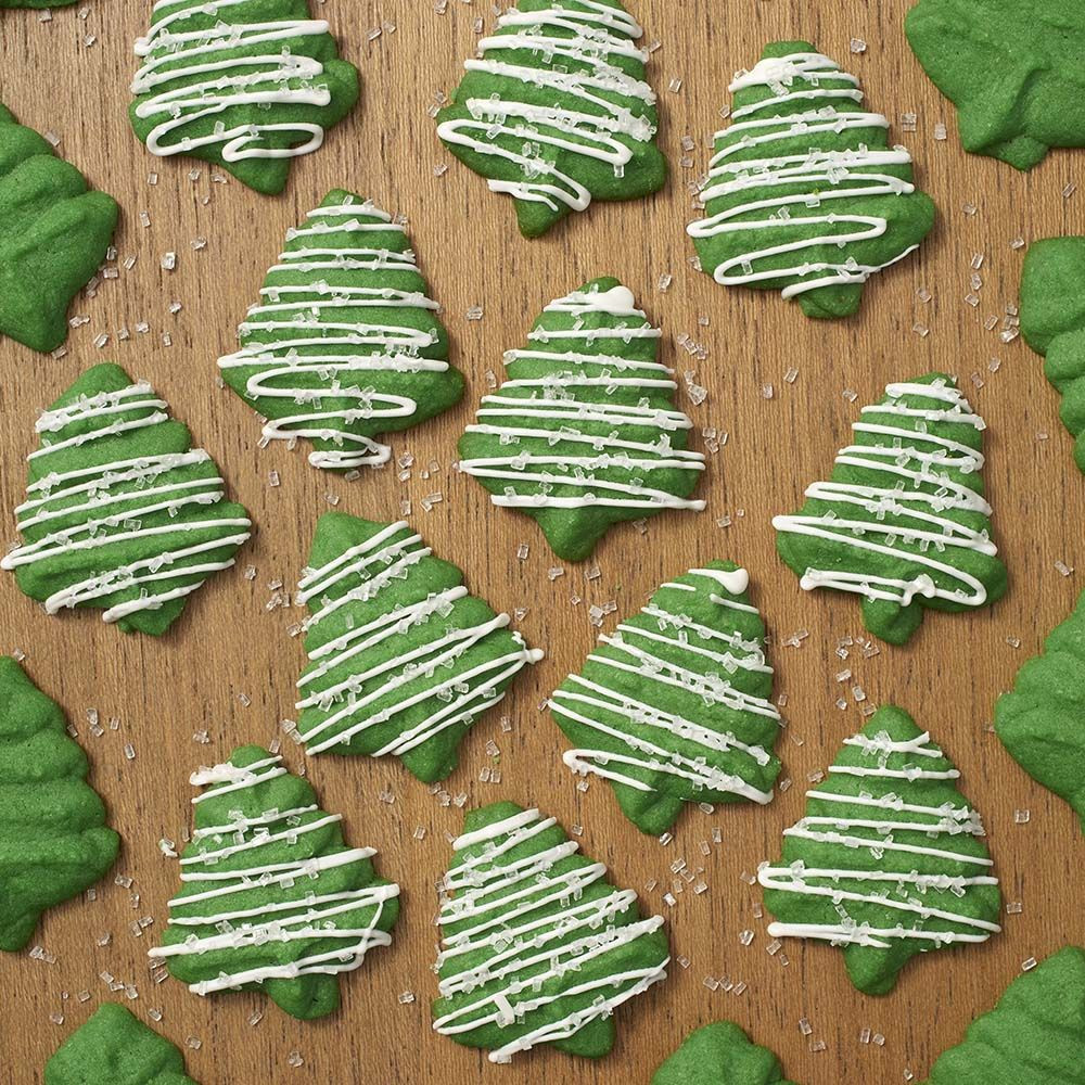 Christmas Tree Spritz Cookies  Christmas Tree Spritz Cookies