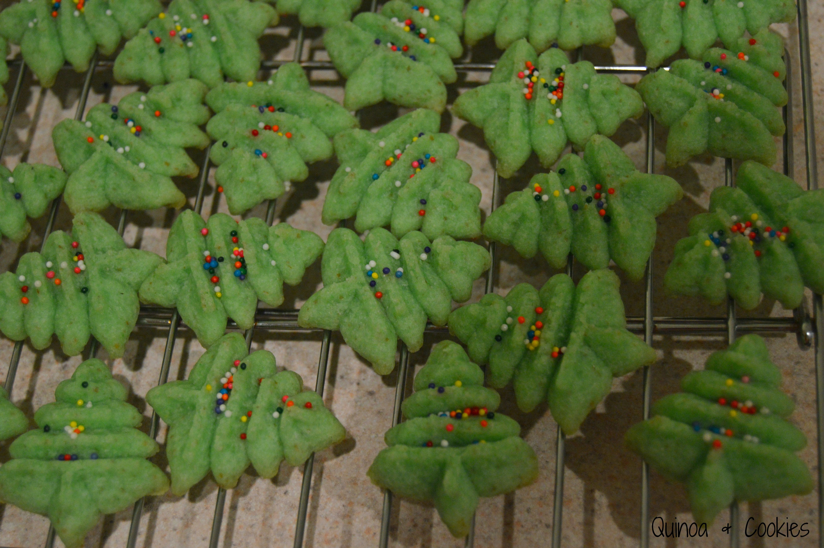 Christmas Tree Spritz Cookies  Christmas Tree Cookies Gluten Free & Vegan