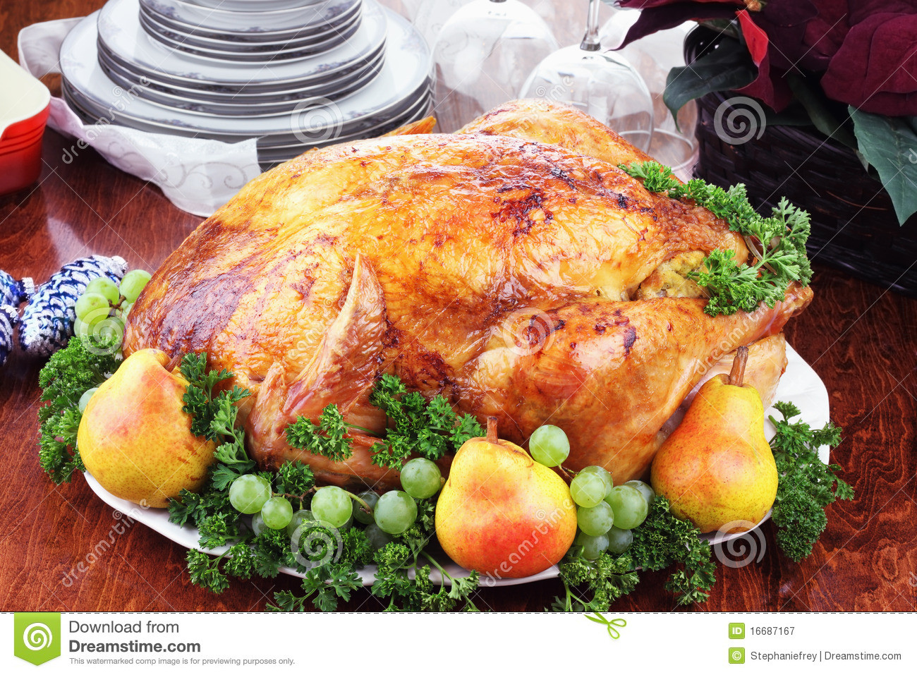 Christmas Turkey Dinner  Christmas Turkey Dinner Royalty Free Stock graphy