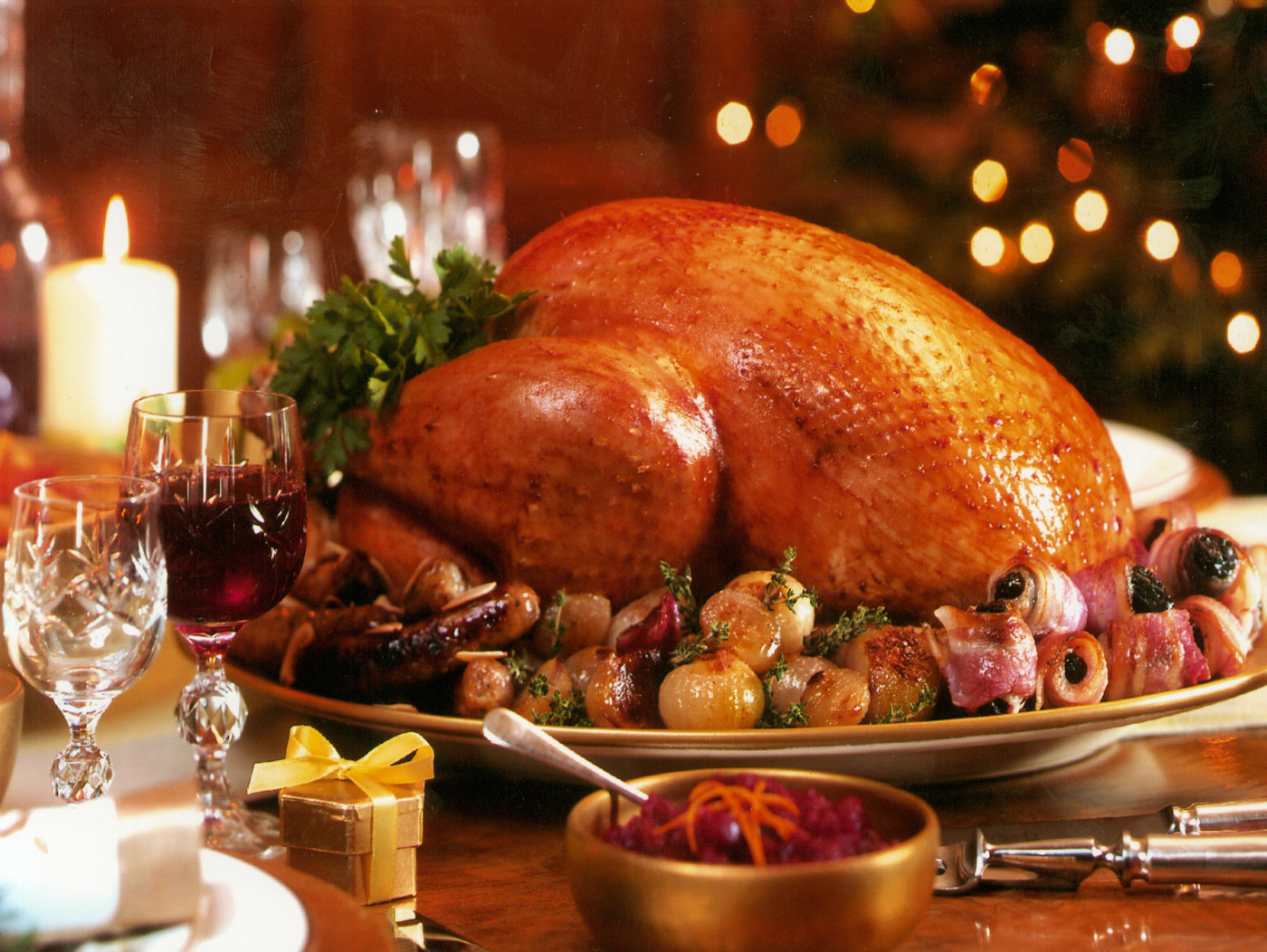 Christmas Turkey Dinner  Scottish festive traditions involving food and drink