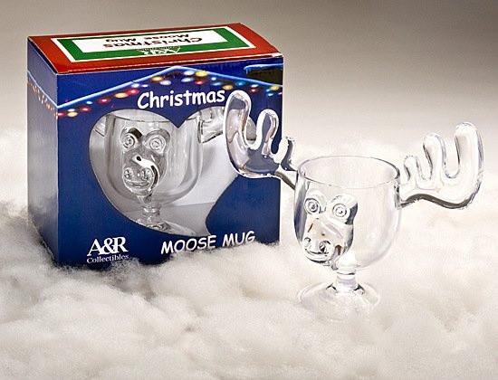 Christmas Vacation Eggnog Glasses  Christmas Eggnog Moose Mugs SET OF TWO MUGS