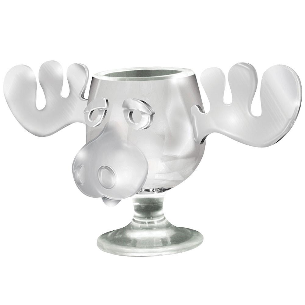 Christmas Vacation Eggnog Glasses  NEW Christmas Vacation Moose Mug National Lampoon s Glass