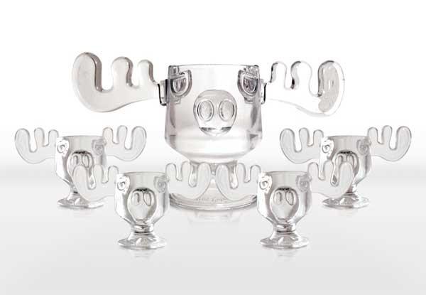 Christmas Vacation Eggnog Glasses  Christmas Vacation Moose Punch Bowl and Moose Mug Set