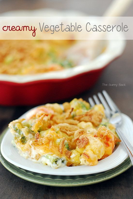 Christmas Vegetable Casserole  Creamy Veggie Casserole for your Thanksgiving Christmas