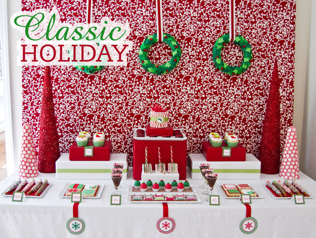 Classic Christmas Desserts  Classic Holiday Dessert Table