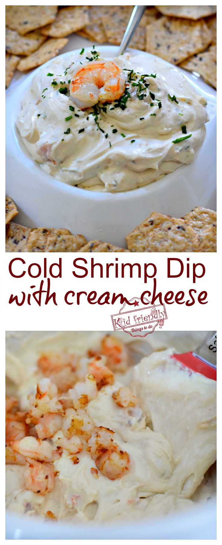 Cold Christmas Appetizers  The Best Cold Shrimp Dip Recipe With Cream Cheese