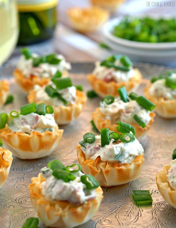 Cold Christmas Appetizers  Boursin Prosciutto Phyllo Cups Appetizers