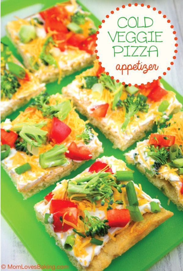 Cold Christmas Appetizers  Cold Veggie Pizza Appetizer Recipe