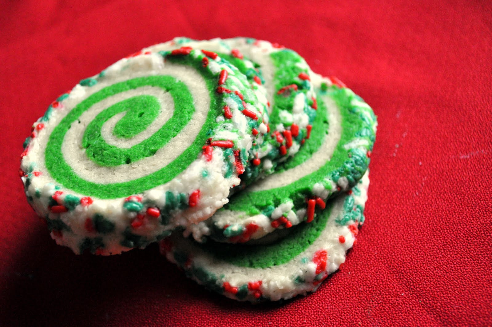 Colorful Christmas Cookies  Our Italian Kitchen Colorful Swirl Cookies