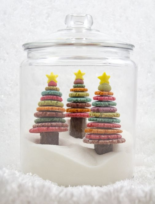 Colorful Christmas Cookies  Project Denneler Edible Colorful Christmas Tree Cookies