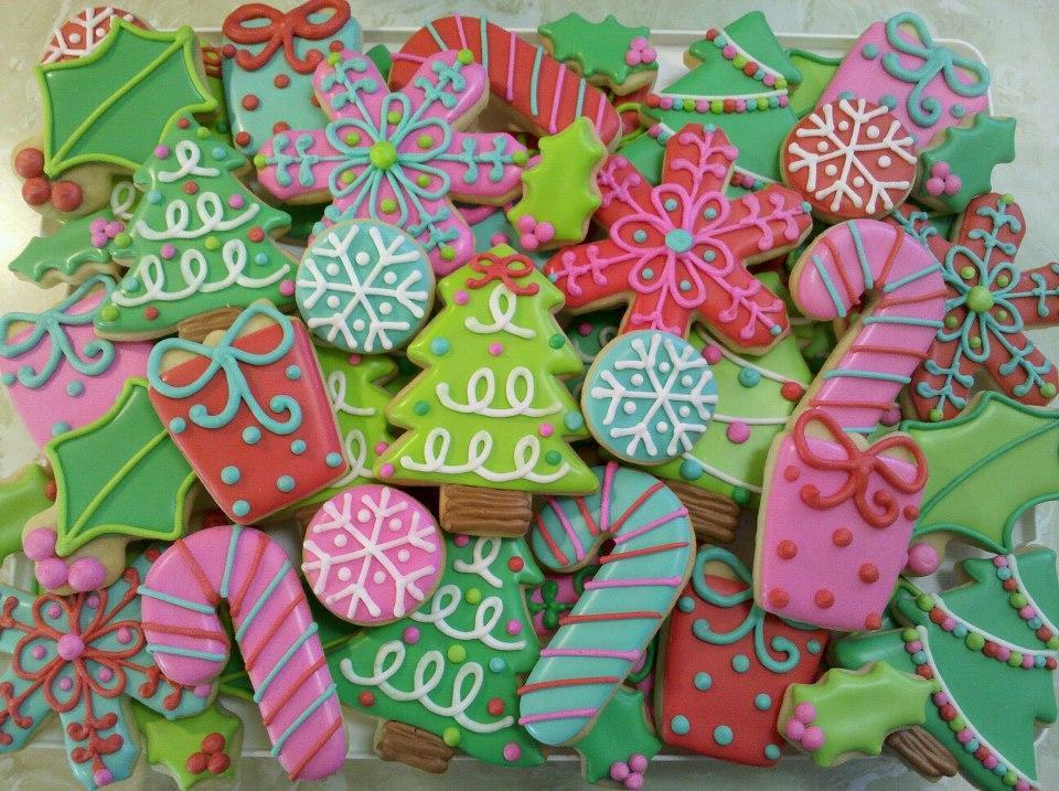 Colorful Christmas Cookies  Colorful Christmas Cookies