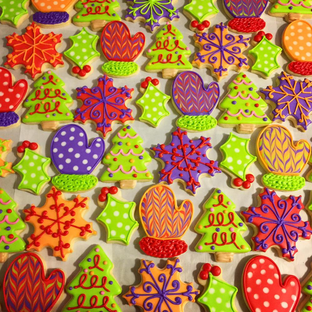 Colorful Christmas Cookies  Colorful Christmas