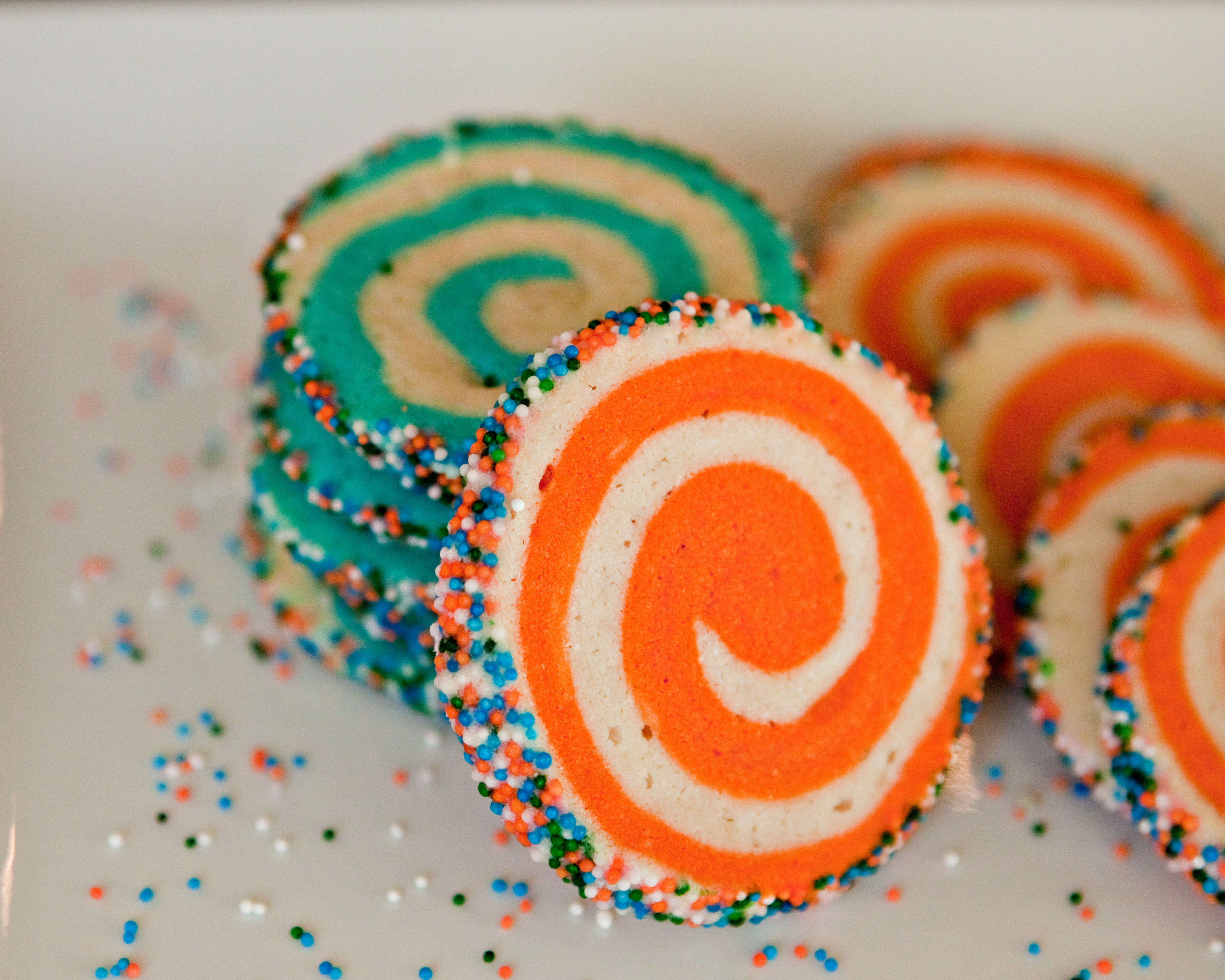 Colorful Christmas Cookies  Colorful Spiral Cookies